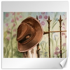 Hat On The Fence Canvas 20  X 20  (unframed)