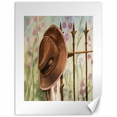 Hat On The Fence Canvas 18  X 24  (unframed)