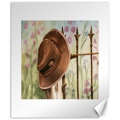 Hat On The Fence Canvas 20  x 24  (Unframed)