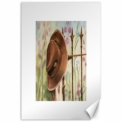 Hat On The Fence Canvas 20  x 30  (Unframed)