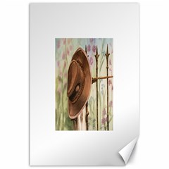 Hat On The Fence Canvas 24  x 36  (Unframed)