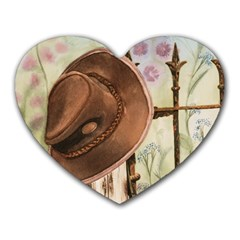 Hat On The Fence Mouse Pad (Heart)