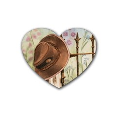 Hat On The Fence Drink Coasters 4 Pack (heart)