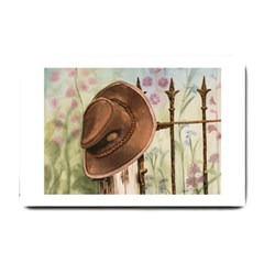 Hat On The Fence Small Door Mat
