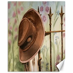 Hat On The Fence Canvas 11  x 14  (Unframed)
