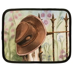Hat On The Fence Netbook Sleeve (large)