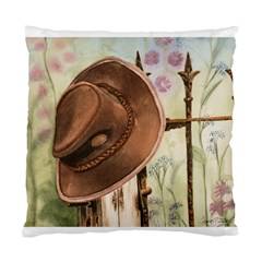 Hat On The Fence Cushion Case (Two Sided)