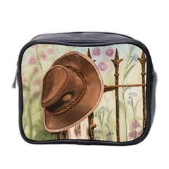 Hat On The Fence Mini Travel Toiletry Bag (Two Sides)