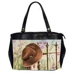 Hat On The Fence Oversize Office Handbag (two Sides)
