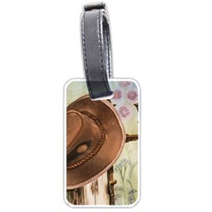 Hat On The Fence Luggage Tag (One Side)
