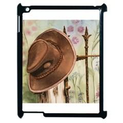 Hat On The Fence Apple iPad 2 Case (Black)