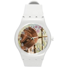 Hat On The Fence Plastic Sport Watch (Medium)