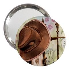 Hat On The Fence 3  Handbag Mirror