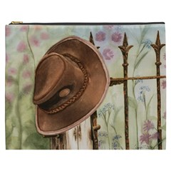 Hat On The Fence Cosmetic Bag (XXXL)