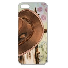 Hat On The Fence Apple Seamless Iphone 5 Case (clear)