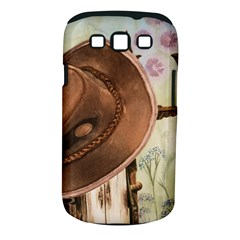 Hat On The Fence Samsung Galaxy S III Classic Hardshell Case (PC+Silicone)