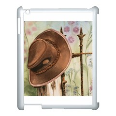 Hat On The Fence Apple Ipad 3/4 Case (white)