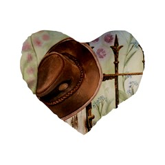 Hat On The Fence 16  Premium Heart Shape Cushion