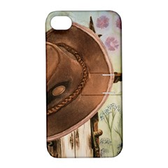Hat On The Fence Apple Iphone 4/4s Hardshell Case With Stand