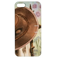 Hat On The Fence Apple Iphone 5 Hardshell Case With Stand