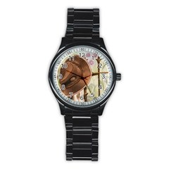 Hat On The Fence Sport Metal Watch (Black)