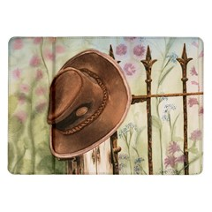 Hat On The Fence Samsung Galaxy Tab 10 1  P7500 Flip Case