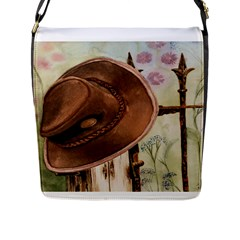 Hat On The Fence Flap Closure Messenger Bag (Large)