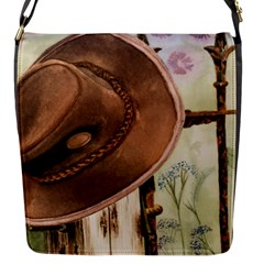 Hat On The Fence Flap Closure Messenger Bag (Small)