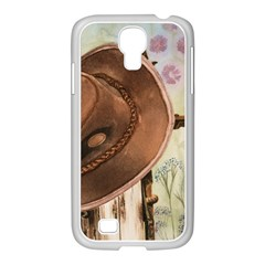 Hat On The Fence Samsung GALAXY S4 I9500/ I9505 Case (White)