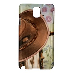 Hat On The Fence Samsung Galaxy Note 3 N9005 Hardshell Case