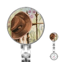 Hat On The Fence Stainless Steel Nurses Watch