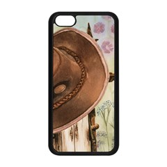 Hat On The Fence Apple iPhone 5C Seamless Case (Black)