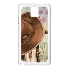 Hat On The Fence Samsung Galaxy Note 3 N9005 Case (white)