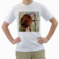 Hat On The Fence Men s T-Shirt (White)