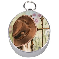 Hat On The Fence Silver Compass