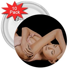 Gentle Embrace 3  Button (10 pack)