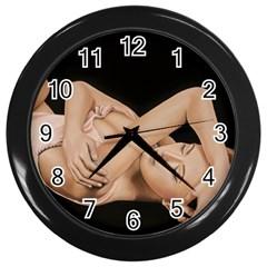 Gentle Embrace Wall Clock (Black)