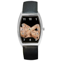 Gentle Embrace Tonneau Leather Watch