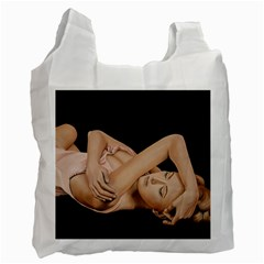 Gentle Embrace White Reusable Bag (two Sides)