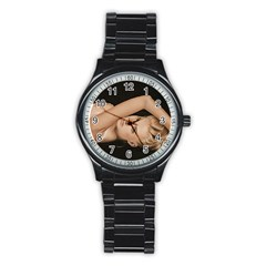 Alluring Sport Metal Watch (Black)