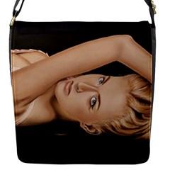 Alluring Flap Closure Messenger Bag (small)