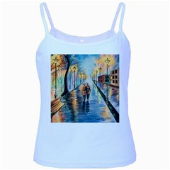 Just The Two Of Us Baby Blue Spaghetti Tank