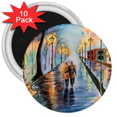 Just The Two Of Us 3  Button Magnet (10 pack)