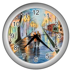 Just The Two Of Us Wall Clock (silver)