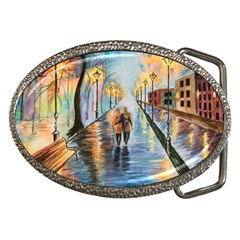 Just The Two Of Us Belt Buckle (oval)