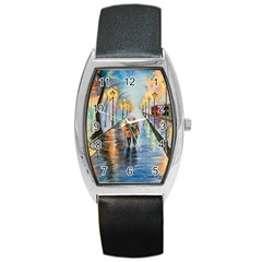 Just The Two Of Us Tonneau Leather Watch