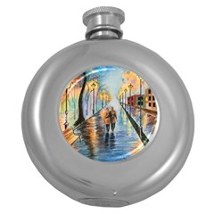Just The Two Of Us Hip Flask (round)