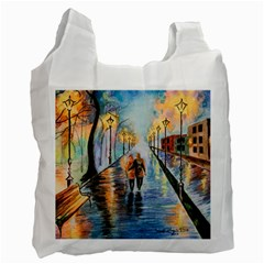 Just The Two Of Us White Reusable Bag (two Sides)