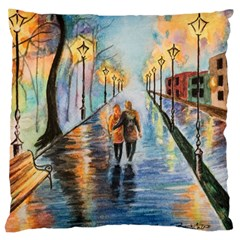 Just The Two Of Us Large Cushion Case (single Sided)