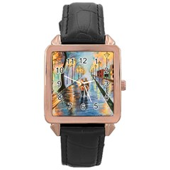 Just The Two Of Us Rose Gold Leather Watch
